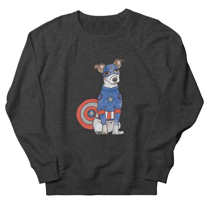 Captain America Pooch Men's Sweatshirt by Tara Joy Andrews