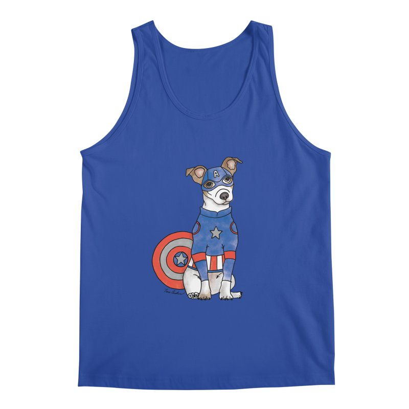 Captain America Pooch Men's Regular Tank by Tara Joy Andrews