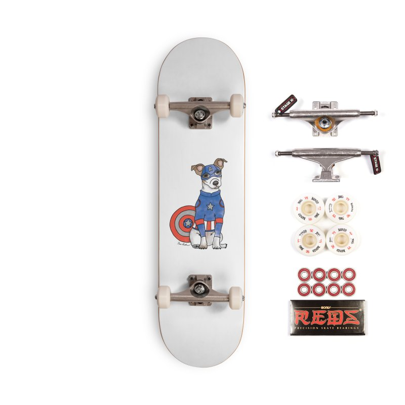 Captain America Pooch Accessories Complete - Pro Skateboard by Tara Joy Andrews