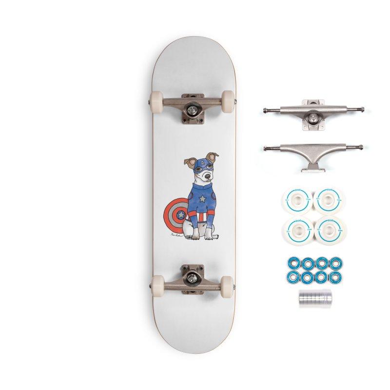 Captain America Pooch Accessories Complete - Basic Skateboard by Tara Joy Andrews