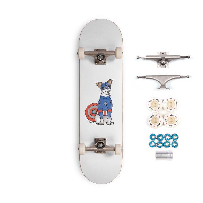 Captain America Pooch Accessories Complete - Premium Skateboard by Tara Joy Andrews