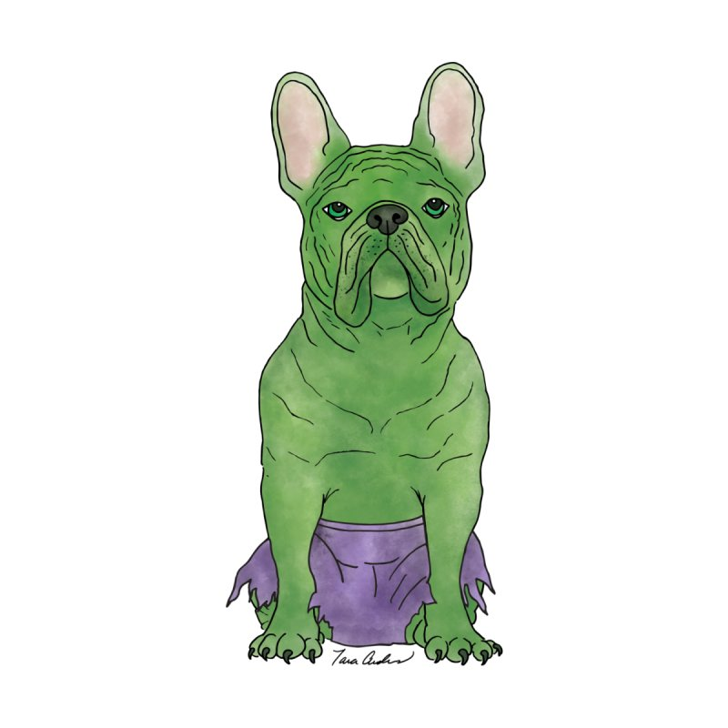Incredible French Bulldog Hulk Women's T-Shirt by Tara Joy Andrews