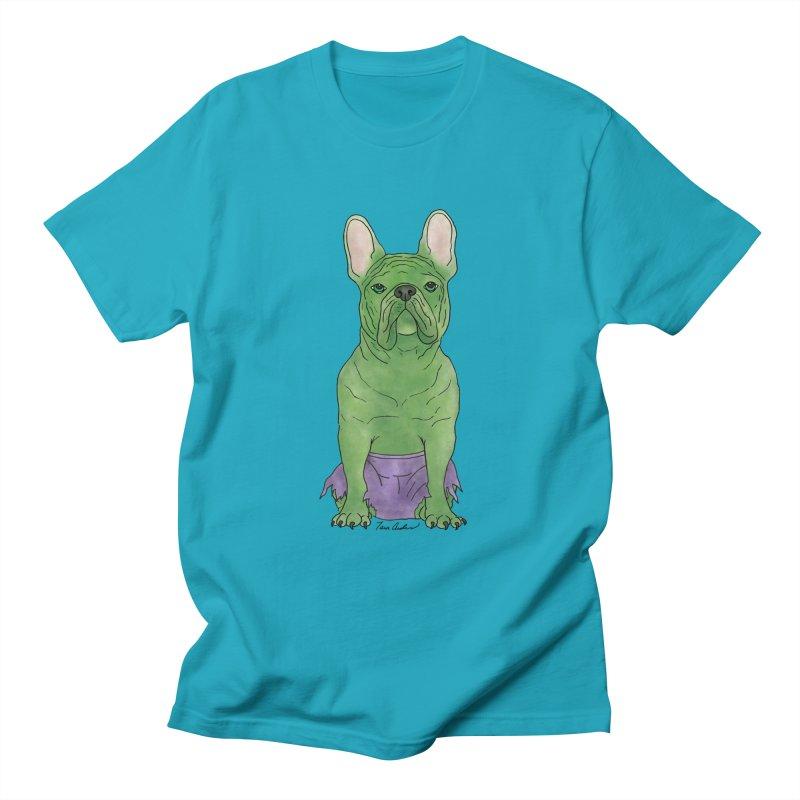 Incredible French Bulldog Hulk Men's T-Shirt by Tara Joy Andrews