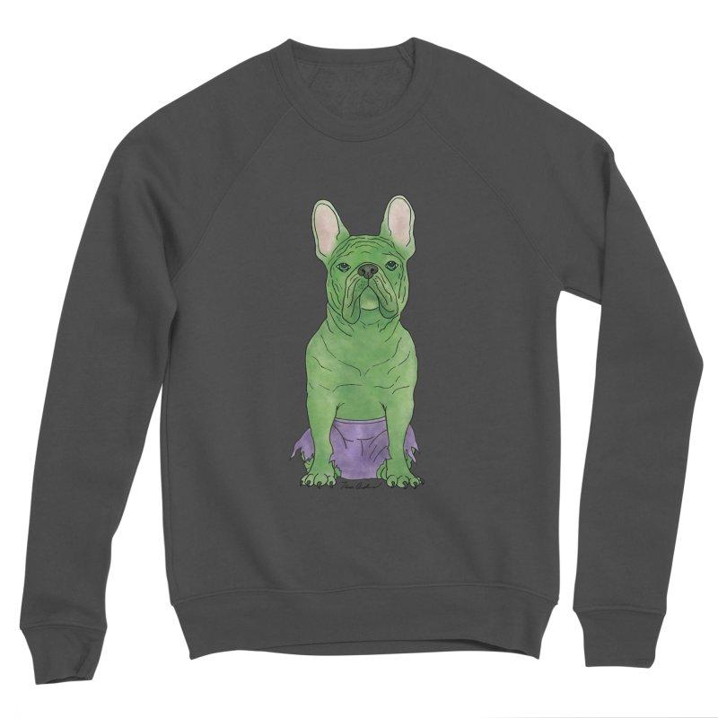 Incredible French Bulldog Hulk Women's Sponge Fleece Sweatshirt by Tara Joy Andrews