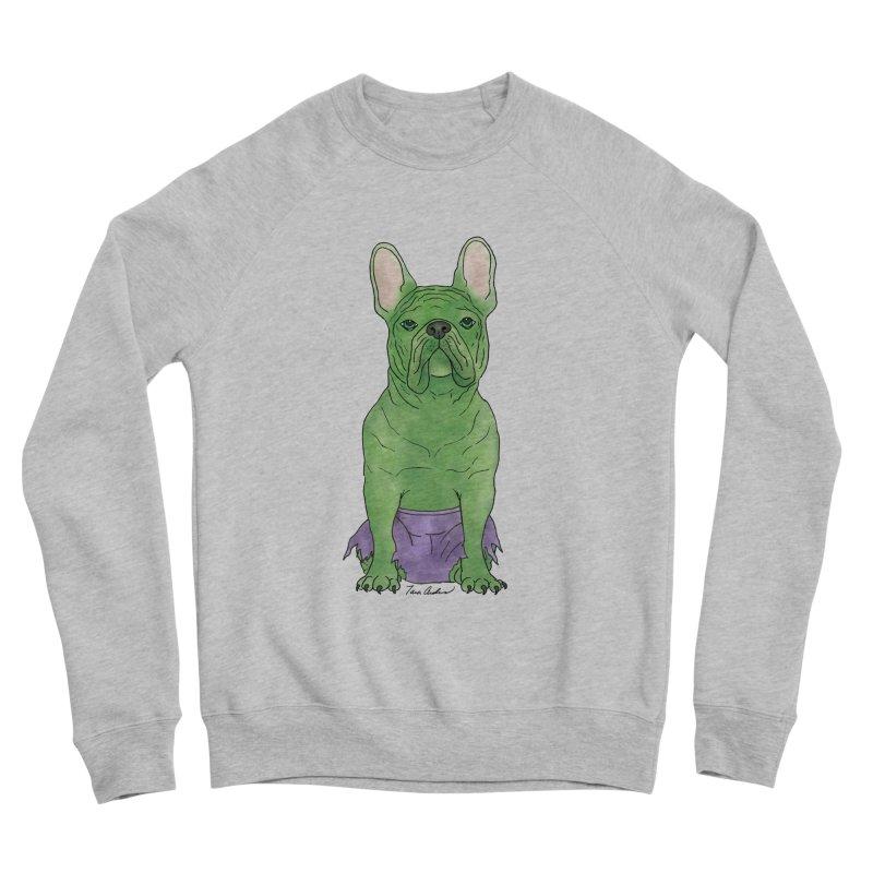 Incredible French Bulldog Hulk Men's Sponge Fleece Sweatshirt by Tara Joy Andrews