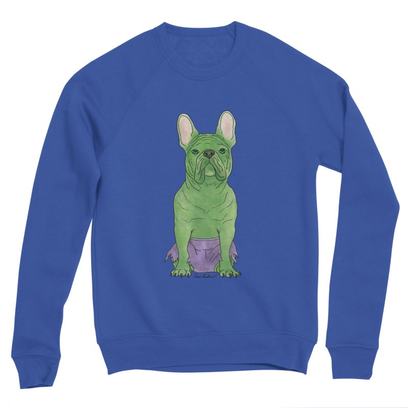 Incredible French Bulldog Hulk Men's Sweatshirt by Tara Joy Andrews