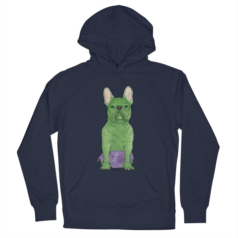 Incredible French Bulldog Hulk Women's French Terry Pullover Hoody by Tara Joy Andrews