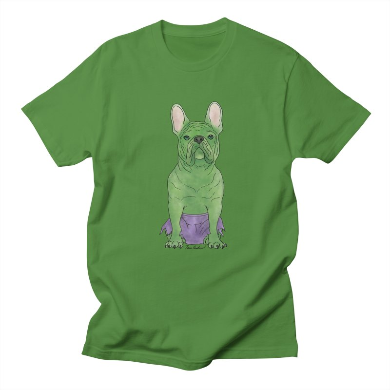 Incredible French Bulldog Hulk Women's Regular Unisex T-Shirt by Tara Joy Andrews