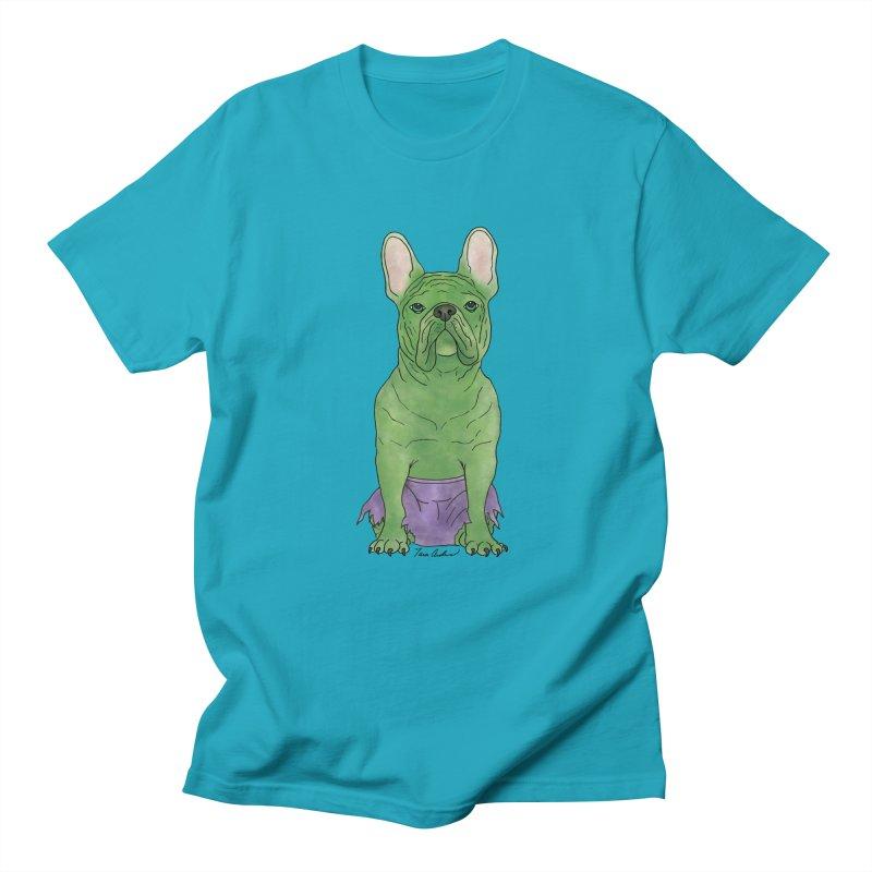 Incredible French Bulldog Hulk Women's Regular Unisex T-Shirt by Tara Joy Andrews