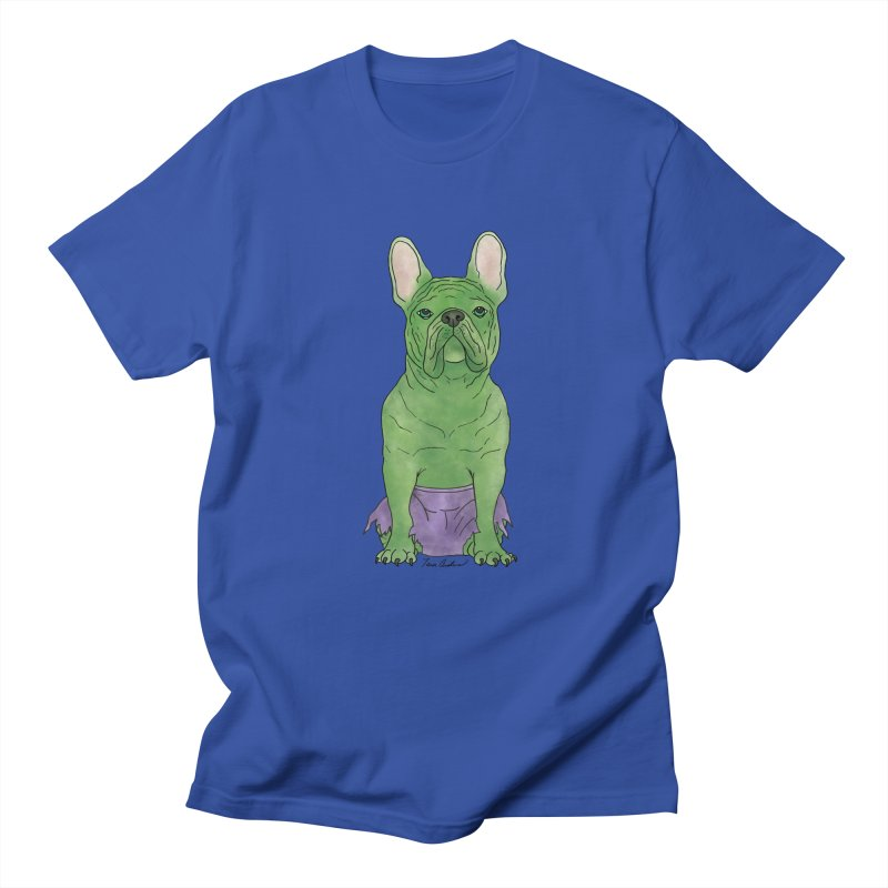 Incredible French Bulldog Hulk Men's Regular T-Shirt by Tara Joy Andrews