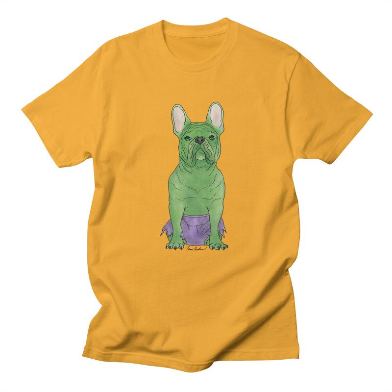 Incredible French Bulldog Hulk Men's Regular T-Shirt by Tara Joy Andrews