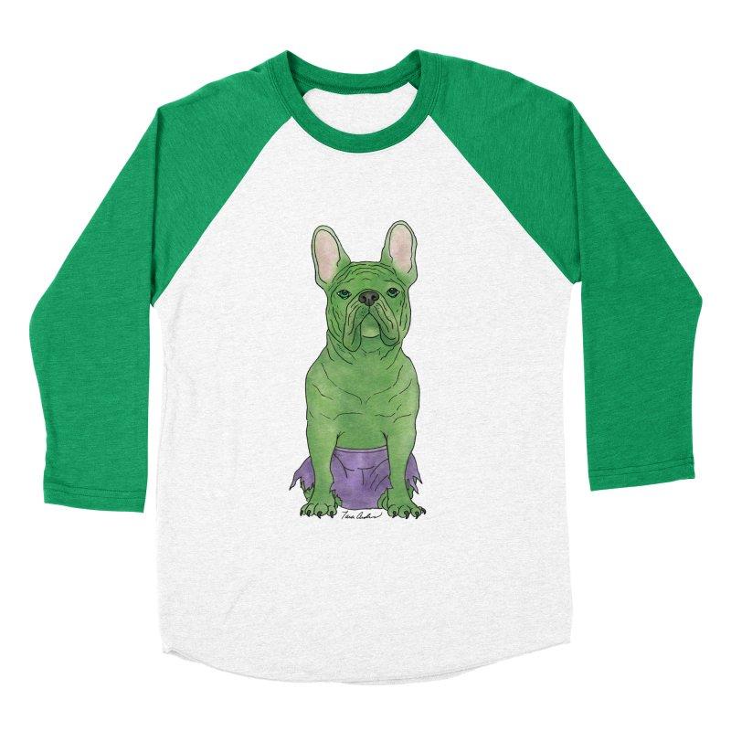 Incredible French Bulldog Hulk Women's Baseball Triblend Longsleeve T-Shirt by Tara Joy Andrews