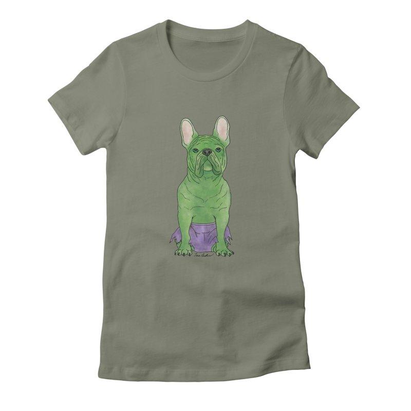 Incredible French Bulldog Hulk Women's T-Shirt by Tara Joy Andrews