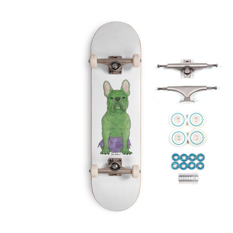 Incredible French Bulldog Hulk Accessories Complete - Basic Skateboard by Tara Joy Andrews