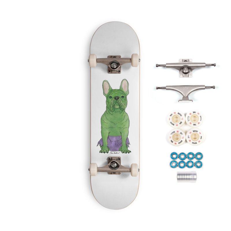 Incredible French Bulldog Hulk Accessories Complete - Premium Skateboard by Tara Joy Andrews