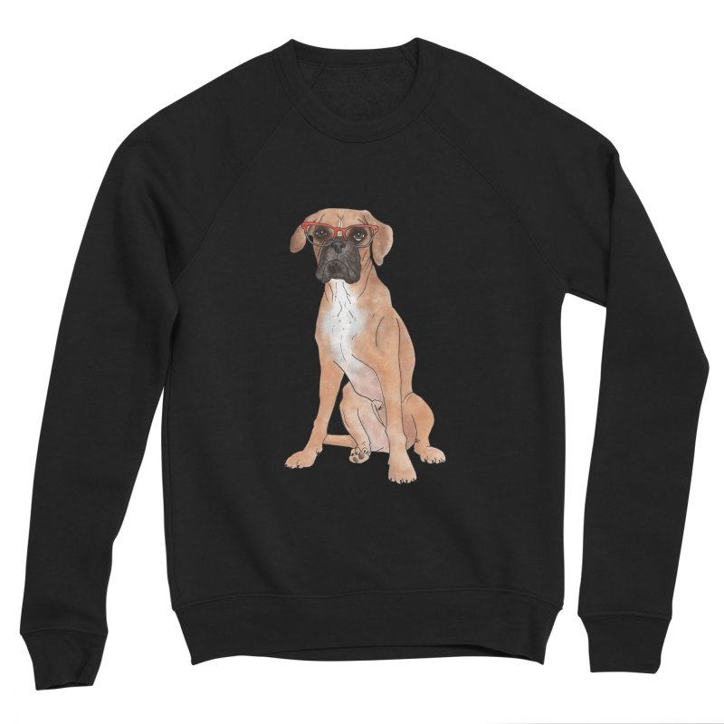 Boxer wearing glasses Men's Sponge Fleece Sweatshirt by Tara Joy Andrews