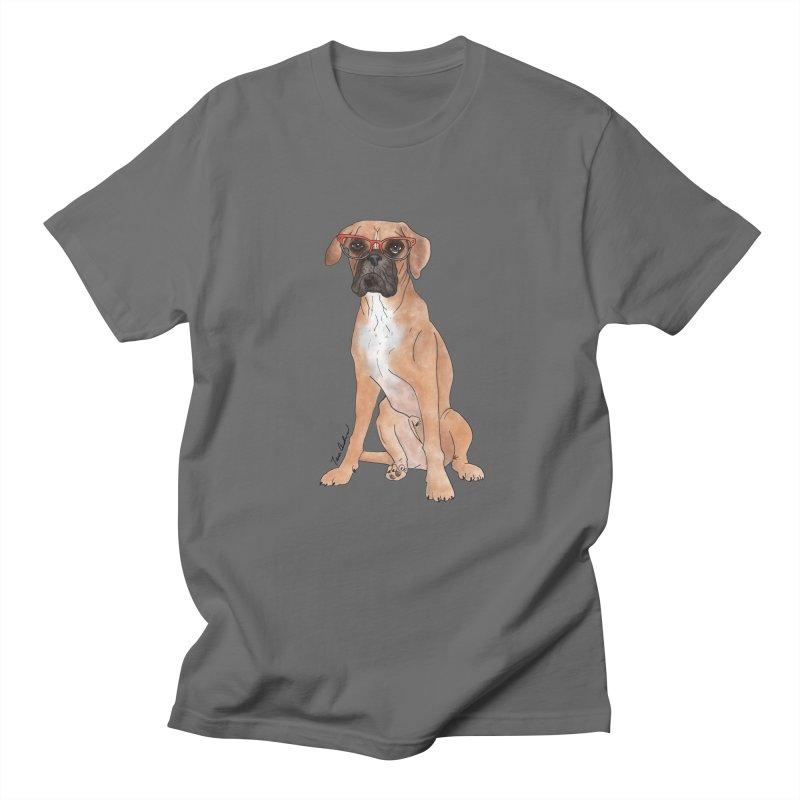 Boxer wearing glasses Men's T-Shirt by Tara Joy Andrews
