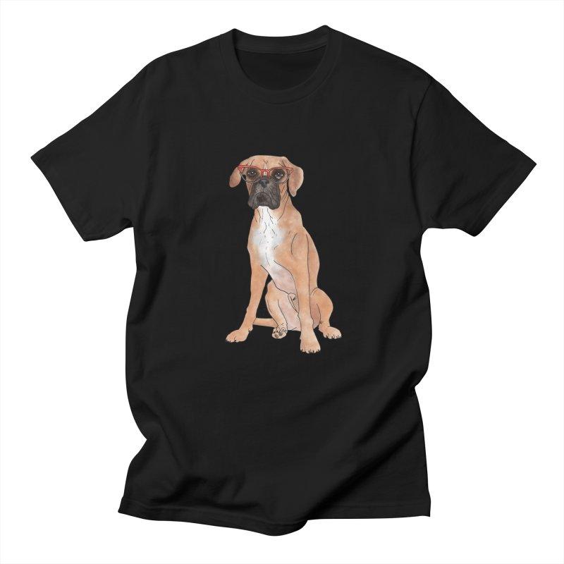 Boxer wearing glasses Men's Regular T-Shirt by Tara Joy Andrews