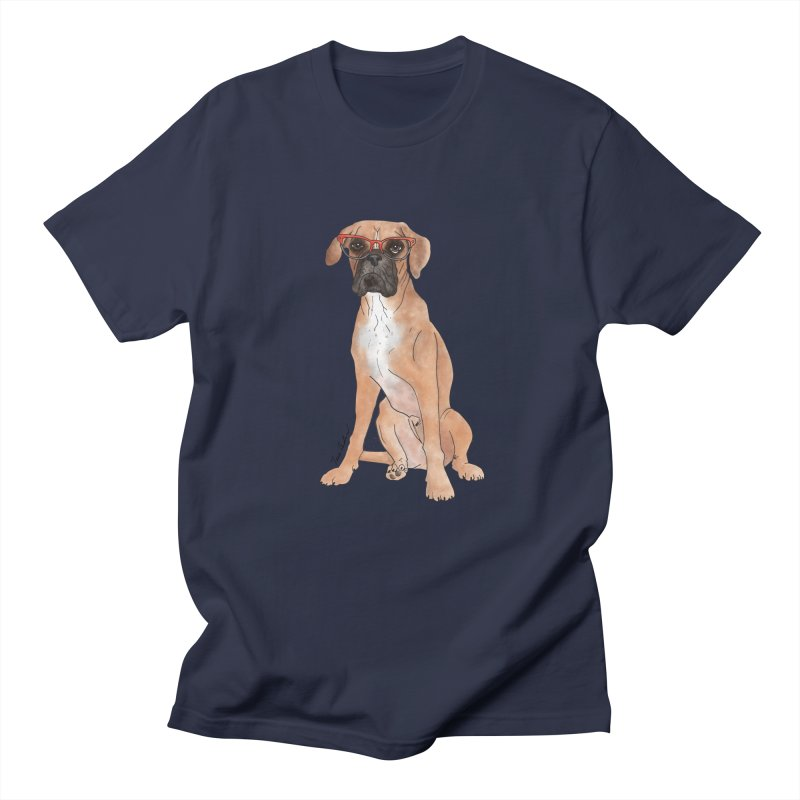 Boxer wearing glasses Women's Regular Unisex T-Shirt by Tara Joy Andrews