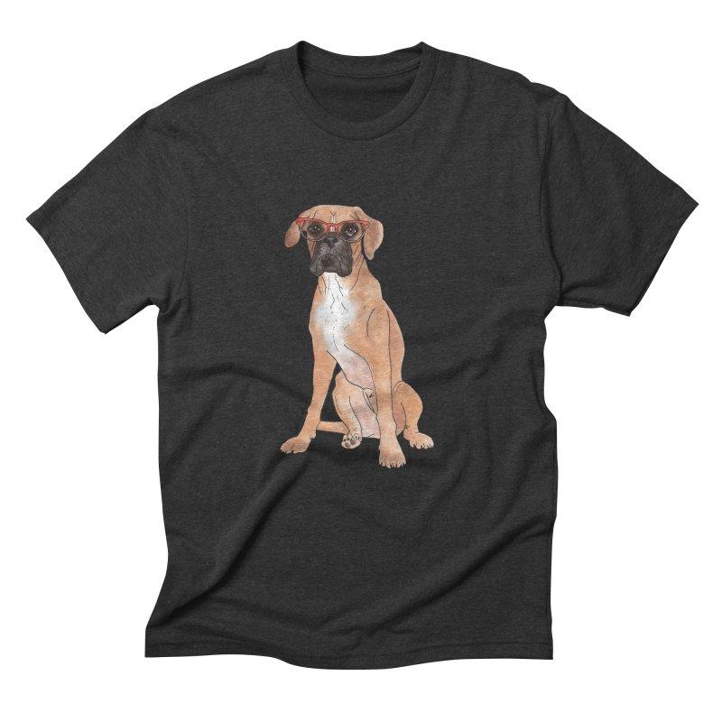 Boxer wearing glasses Men's Triblend T-Shirt by Tara Joy Andrews
