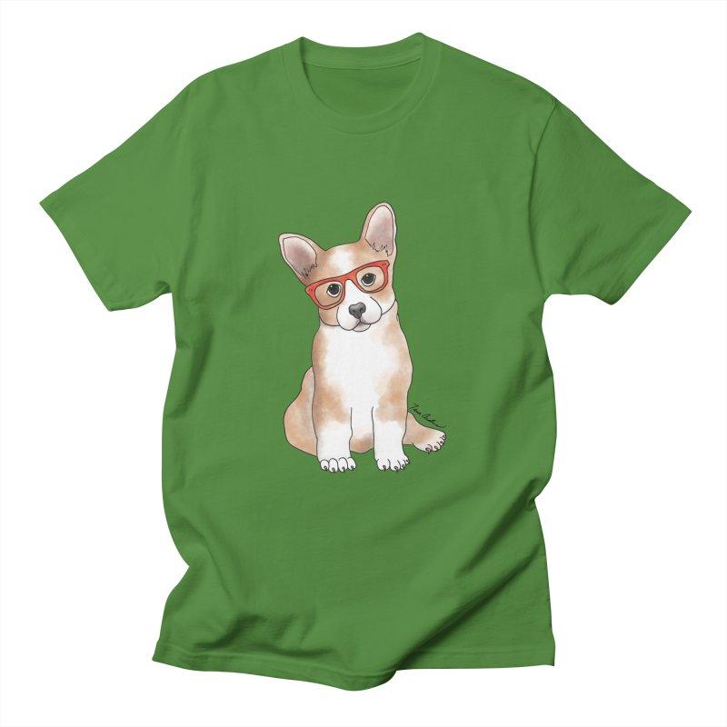 Cuddly Corgi Men's T-Shirt by Tara Joy Andrews