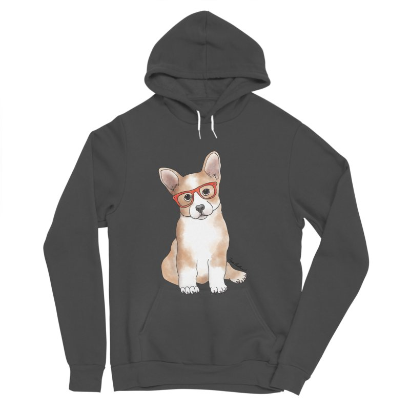Cuddly Corgi Men's Sponge Fleece Pullover Hoody by Tara Joy Andrews