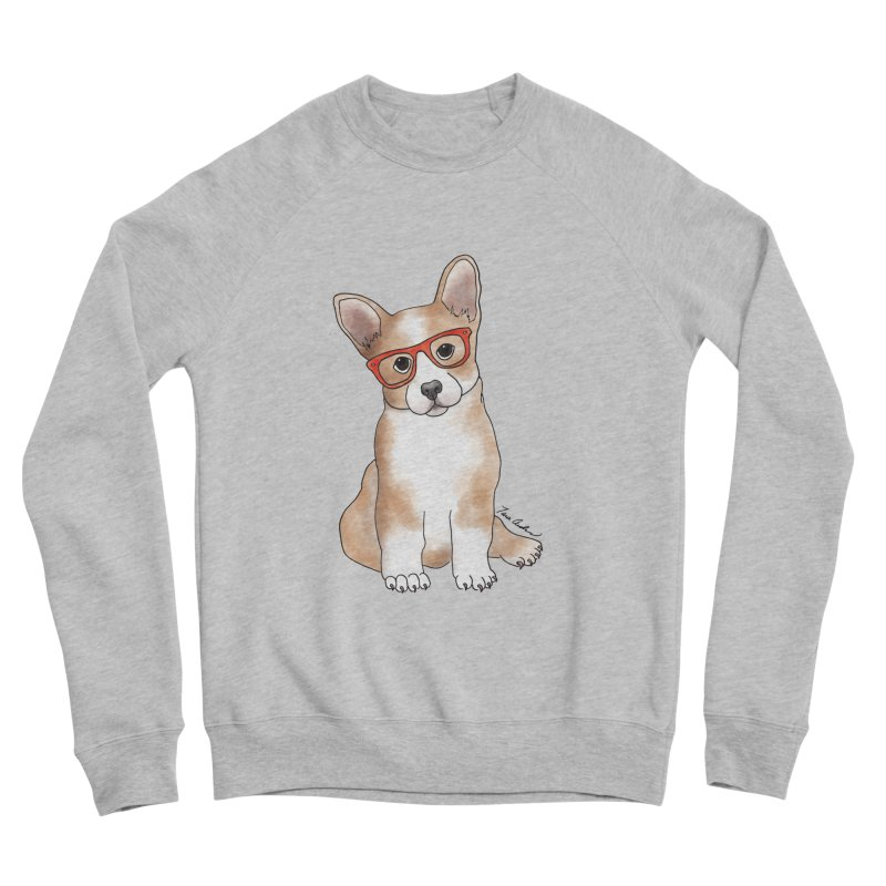 Cuddly Corgi Women's Sponge Fleece Sweatshirt by Tara Joy Andrews