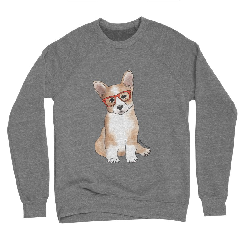Cuddly Corgi Men's Sponge Fleece Sweatshirt by Tara Joy Andrews