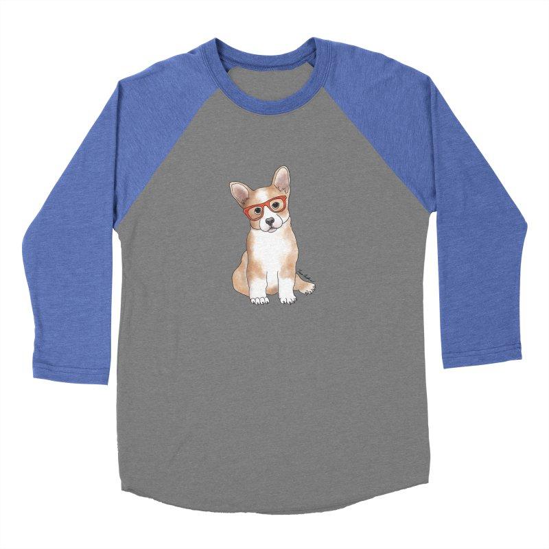 Cuddly Corgi Women's Baseball Triblend Longsleeve T-Shirt by Tara Joy Andrews