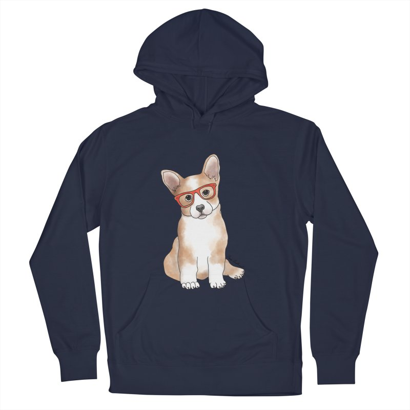 Cuddly Corgi Men's Pullover Hoody by Tara Joy Andrews
