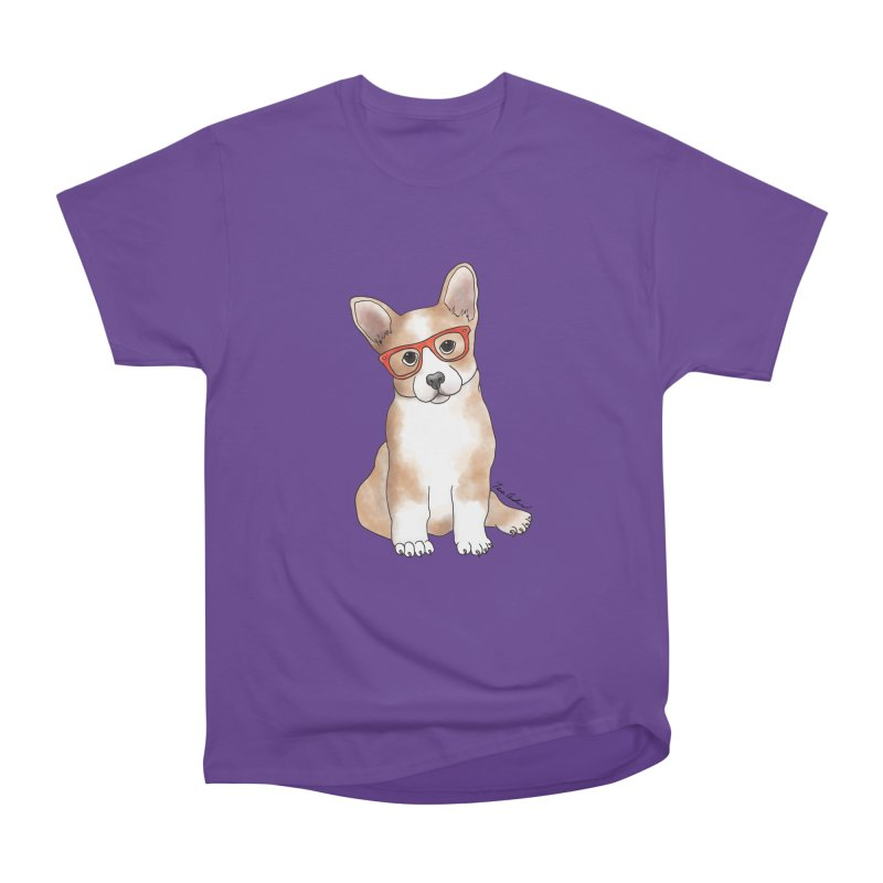 Cuddly Corgi Men's Heavyweight T-Shirt by Tara Joy Andrews