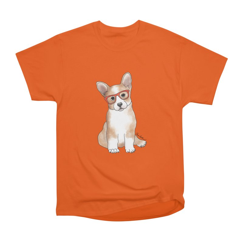 Cuddly Corgi Women's Heavyweight Unisex T-Shirt by Tara Joy Andrews