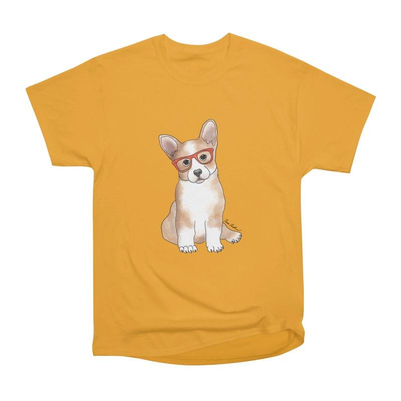 Cuddly Corgi Men's Heavyweight T-Shirt by Tara Joy Andrews