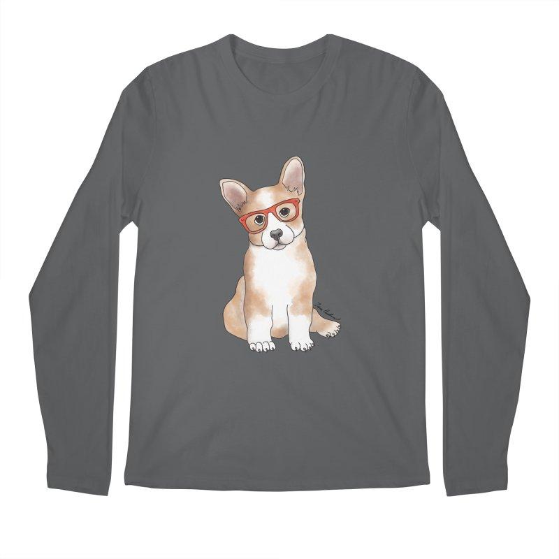 Cuddly Corgi Men's Regular Longsleeve T-Shirt by Tara Joy Andrews