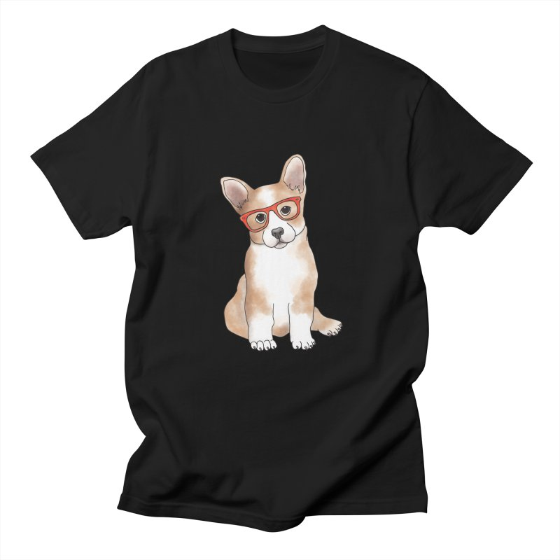 Cuddly Corgi Women's Regular Unisex T-Shirt by Tara Joy Andrews