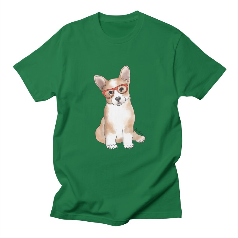 Cuddly Corgi Women's Regular Unisex T-Shirt by Tara Joy Andrews