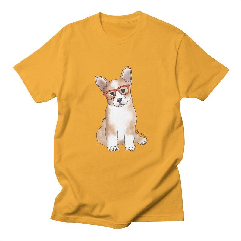Cuddly Corgi Men's Regular T-Shirt by Tara Joy Andrews