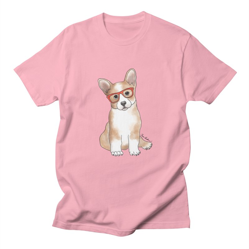 Cuddly Corgi Men's Regular T-Shirt by Tara Joy Andrews