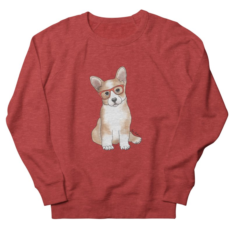 Cuddly Corgi Women's French Terry Sweatshirt by Tara Joy Andrews