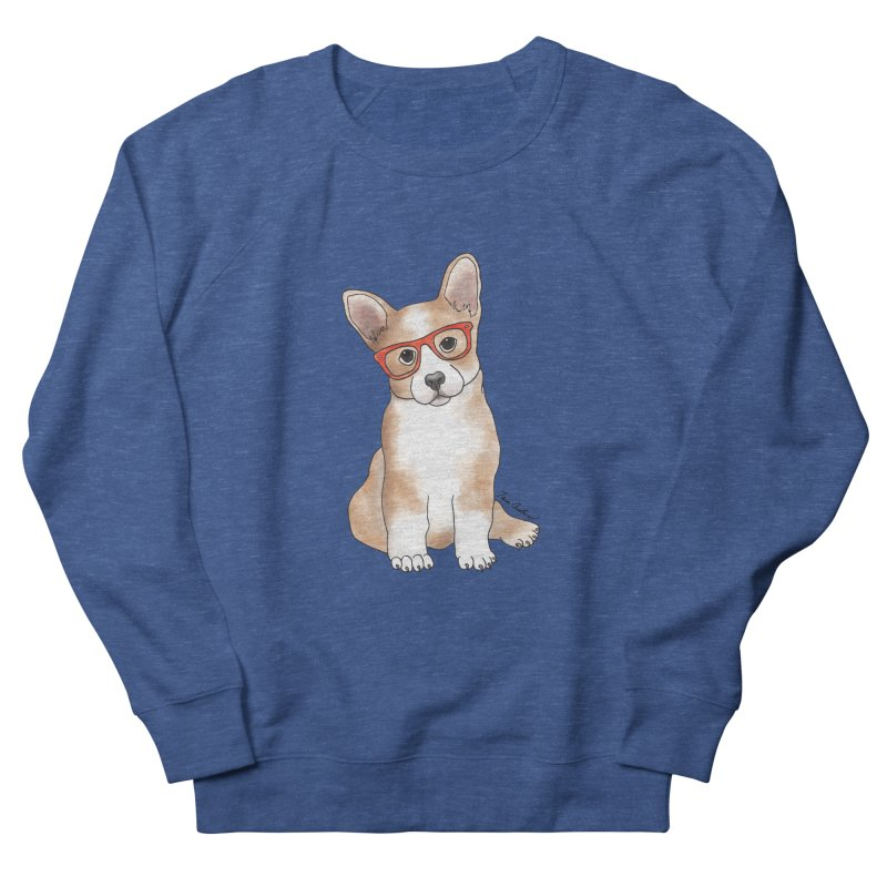 Cuddly Corgi Men's French Terry Sweatshirt by Tara Joy Andrews