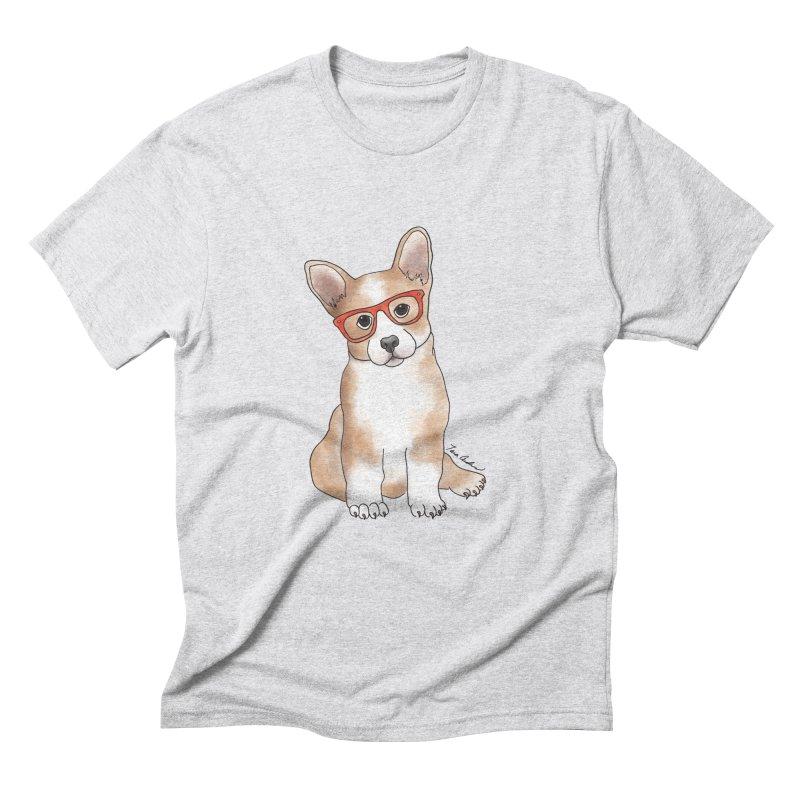 Cuddly Corgi Men's Triblend T-Shirt by Tara Joy Andrews