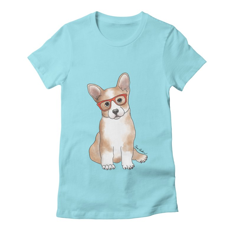 Cuddly Corgi Women's Fitted T-Shirt by Tara Joy Andrews