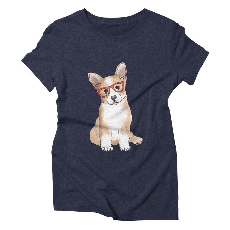 Cuddly Corgi Women's Triblend T-Shirt by Tara Joy Andrews