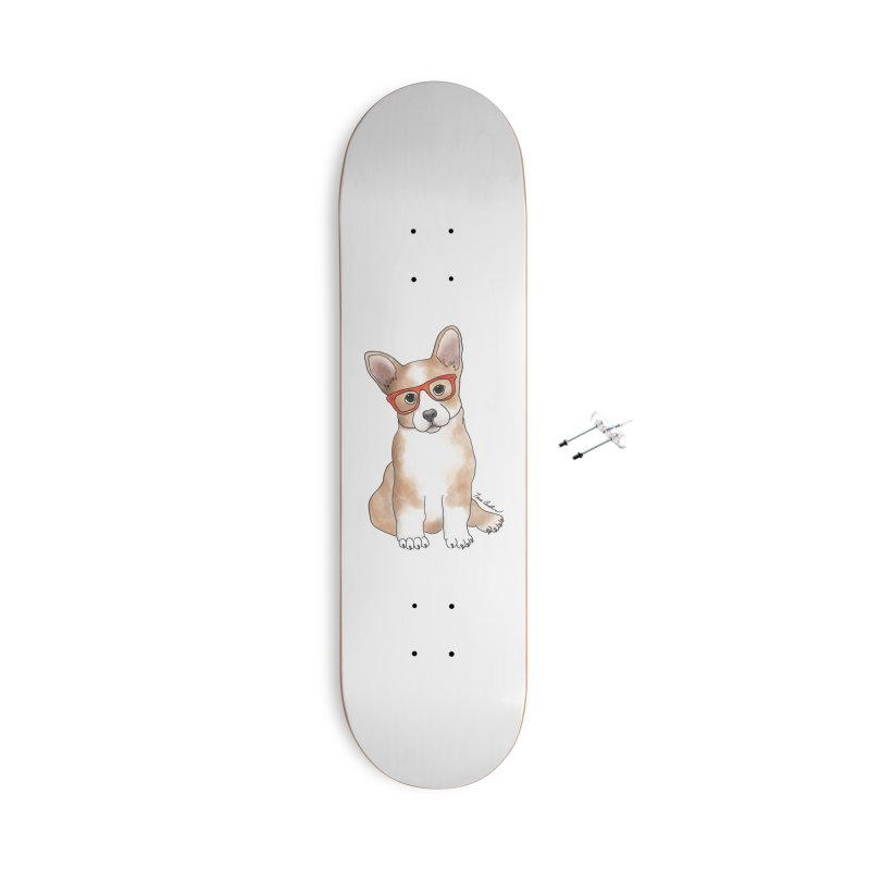 Cuddly Corgi Accessories With Hanging Hardware Skateboard by Tara Joy Andrews