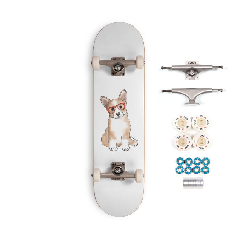 Cuddly Corgi Accessories Complete - Premium Skateboard by Tara Joy Andrews