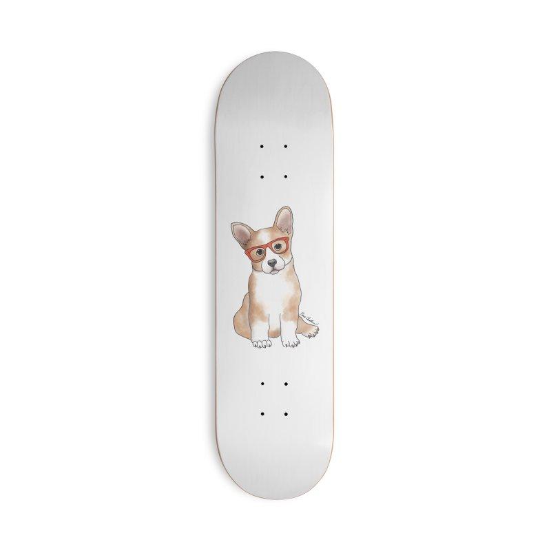 Cuddly Corgi Accessories Deck Only Skateboard by Tara Joy Andrews