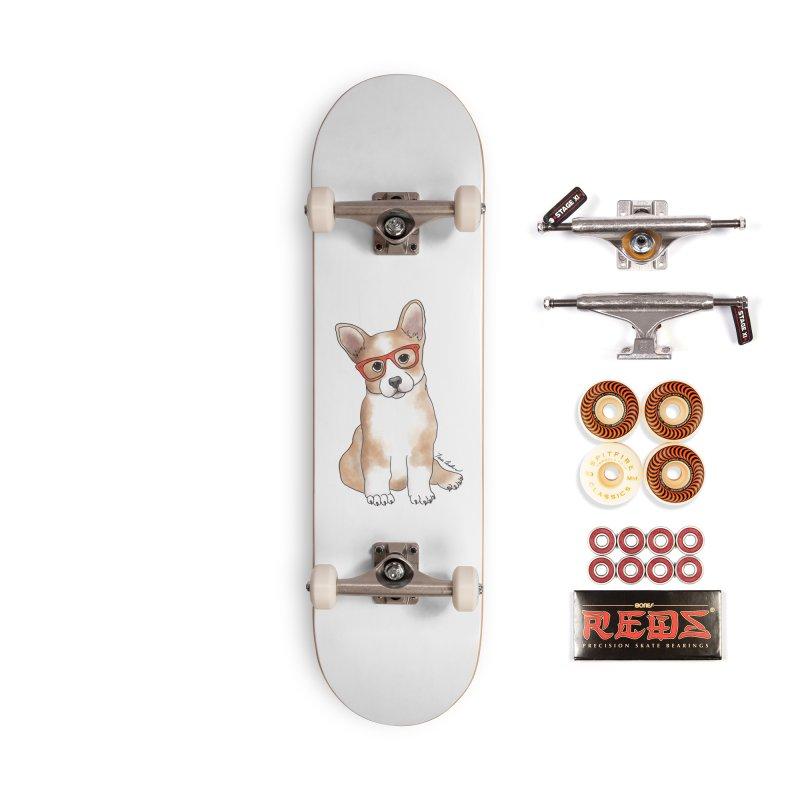 Cuddly Corgi Accessories Skateboard by Tara Joy Andrews