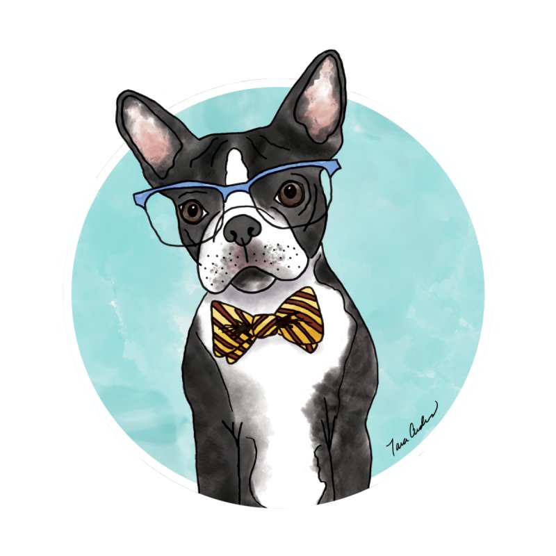 Boston Terrier with bowtie Men's T-Shirt by Tara Joy Andrews