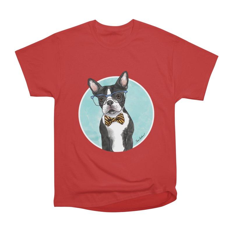 Boston Terrier with bowtie Men's T-Shirt by Tara Joy Andrews