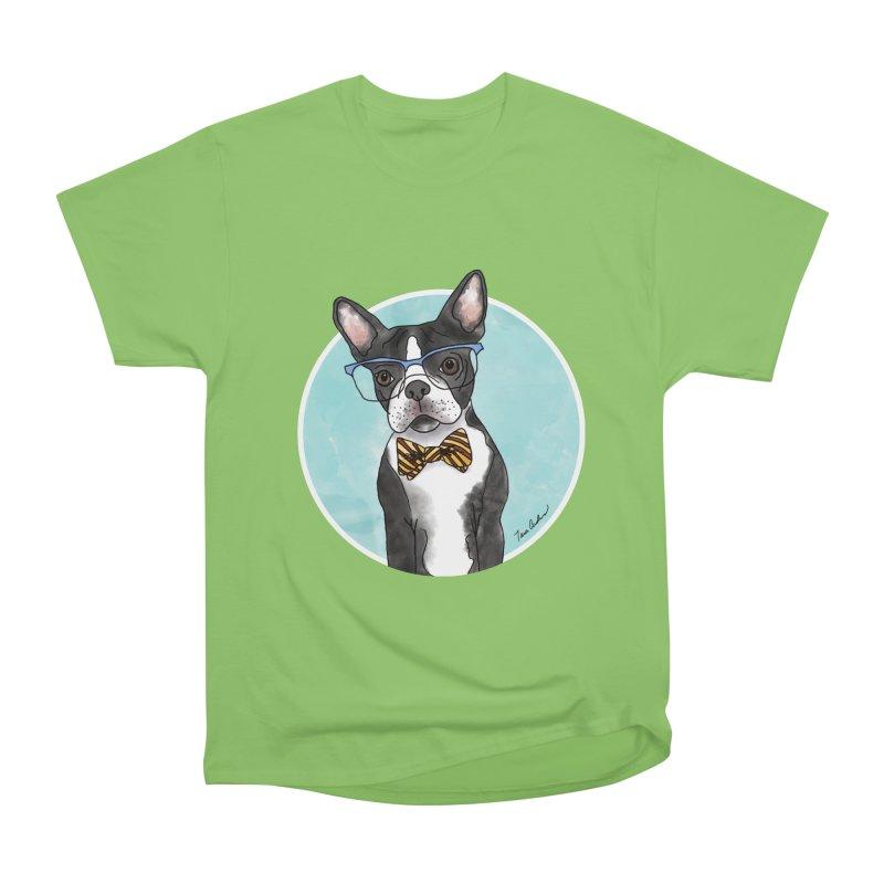 Boston Terrier with bowtie Women's T-Shirt by Tara Joy Andrews